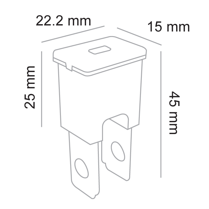 100 AMP MALE FUSIBLE LINK PLUG IN 1 PACK