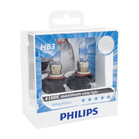 Genuine Philips HB3 WhiteVision 12V 60W P20d Twin Pack