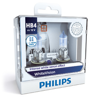 Genuine Philips HB4 WhiteVision 12V 51W P22d Twin Pack