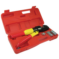 HYDRAULIC CABLE LUG CRIMPER SUITS 4MM2 TO 70MM2 INCLUDES 8 DIES