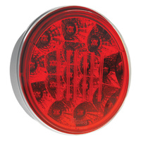 LED Round Stop / Tail Lamp Multivolt 12/24V ADR Approved Mounting grommet included