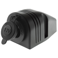 Surface Mount Cigarette Socket 12/24V Power Accessory Socket with Rubber Cap
