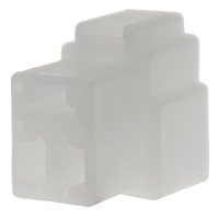 3 WAY SOCKET CONNECTOR 100 PACK WHITE HOUSING