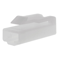 1 WAY PLUG CONNECTOR 10 PACK WHITE HOUSING