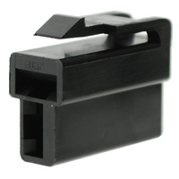 2 WAY PLUG CONNECTOR 10 PACK BLACK HOUSING