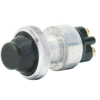 SWITCH PUSH BUTTON MOMENTARY N/O 60AMP @ 12V 2 SCREW TERMINALS WITH RUBBER BOOT