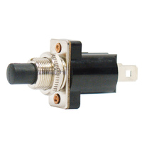 SWITCH PUSH BUTTON MOMENTARY N/O 10AMP @ 12V 2 BLADE TERMINALS
