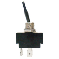 SWITCH TOGGLE 20AMP @ 12V 2 POSTION OFF, ON DPST SILVER CONTACTS 4 BLADE TERMINALS