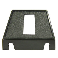 PLASTIC SINGLE SWITCH PANEL 1 X 29MM X 11.55MM RECTANGLE HOLE