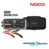 Genuine NOCO GENIUS BOOST GB20 12V Lithium-ion Jump Starter + Carry Case Bundle