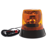 LV Automotive Magnetic Amber Low Profile Rotating Beacon 12/24V 146x153MM Class 1 (Req H1 Globe)