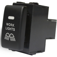 NISSAN WORKLIGHT SWITCH SUITS NAVARA D40 PATROL Y61 Y62 ORANGE ILLUMINATION