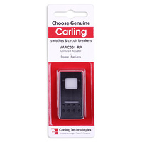 CARLING CONTURA II ACTUATOR BLANK SYMBOL WHITE SQUARE AND BAR LENS